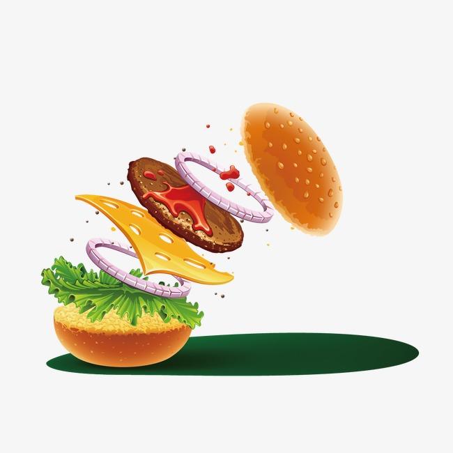 创意汉堡素材png素材-90设计