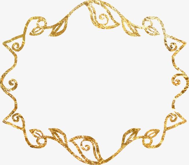 黄金色边框素材图片免费下载_高清装饰图案png_千库网