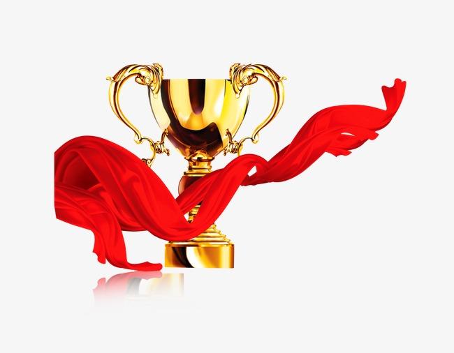 金奖杯红绸素材图片免费下载 高清效果元素psd 千库网 图片编号3137656
