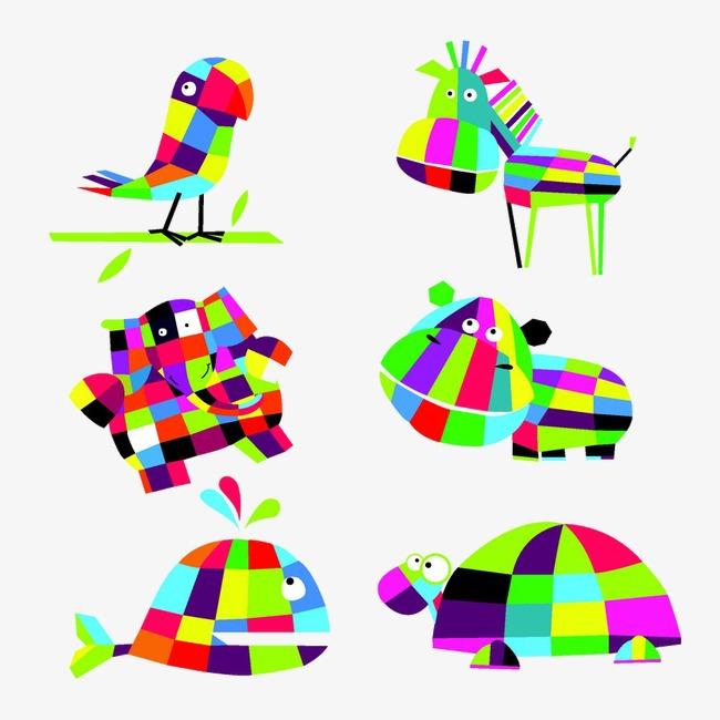 折纸 动物 卡通 彩色             此素材是90设计网官方设计出品,均