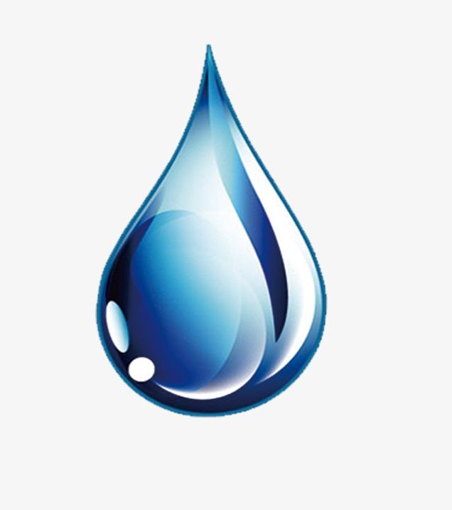蓝色手绘水滴