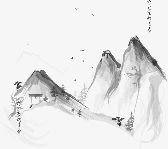 山水水墨畫圖片