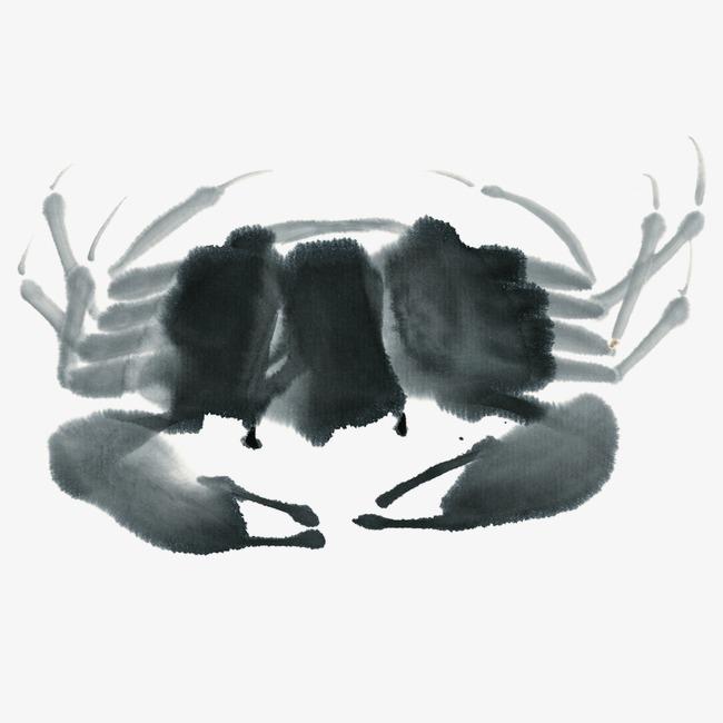 国画螃蟹分步骤