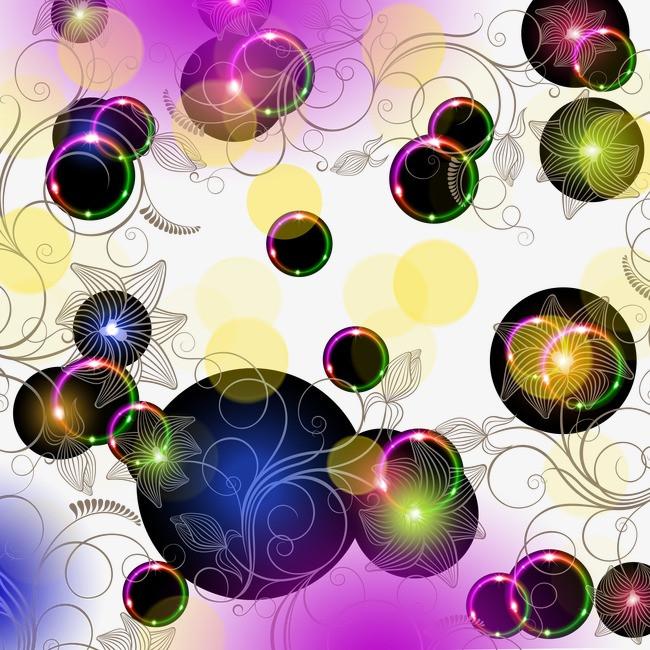 泡沫背景_彩色泡沫png素材-90设计