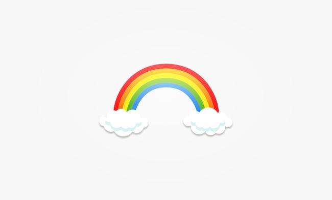 卡通背景_卡通彩虹png素材-90设计图片
