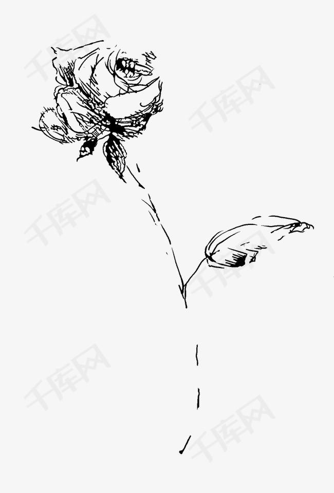 手绘花手绘花玫瑰花简笔花花朵