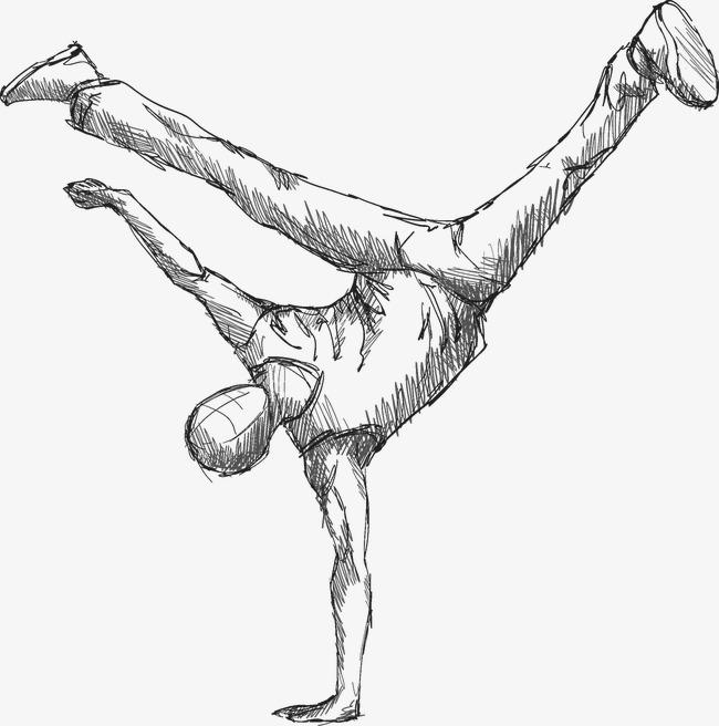 素描街舞png素材-90设计图片
