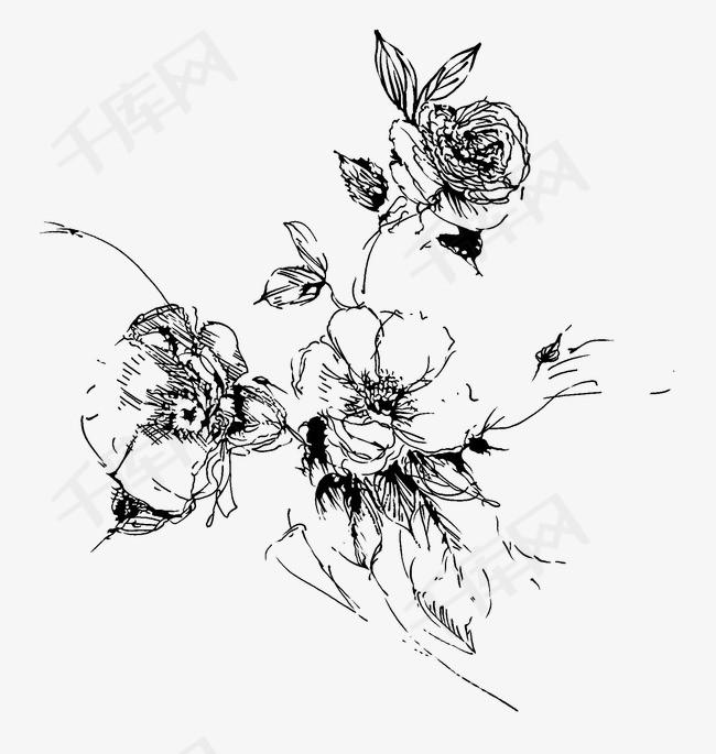 手绘花手绘花花朵简笔画花卉