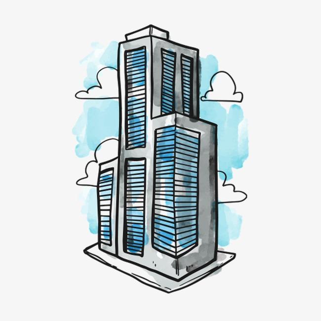 卡通大楼素材图片