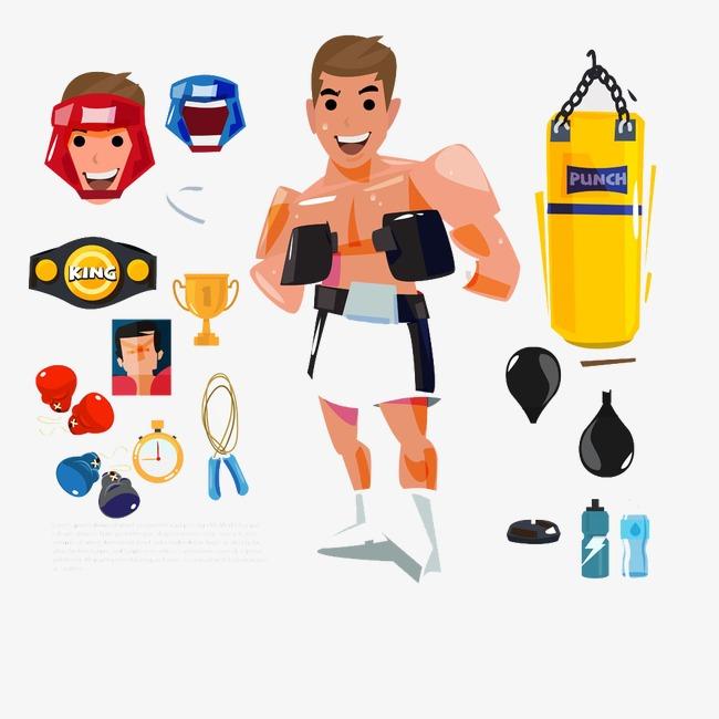 卡通拳击运动员图片