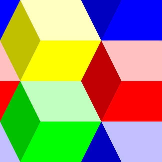 彩色菱形图案