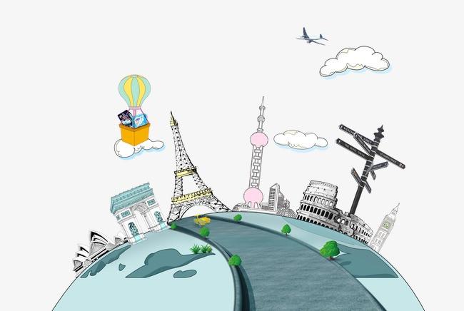 手绘卡通_手绘地球png素材-90设计