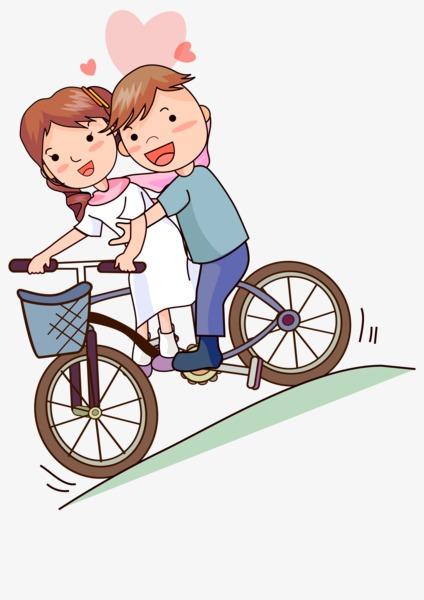 骑自行车情侣