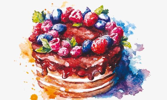 人物手绘蛋糕教程
