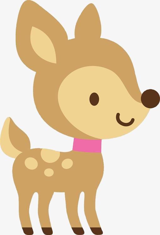 小鹿 卡通 可爱 动物 儿童             此素材是90设计网官方设计出