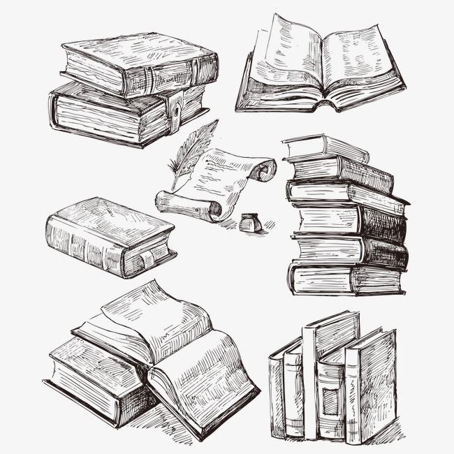书本手绘简笔画
