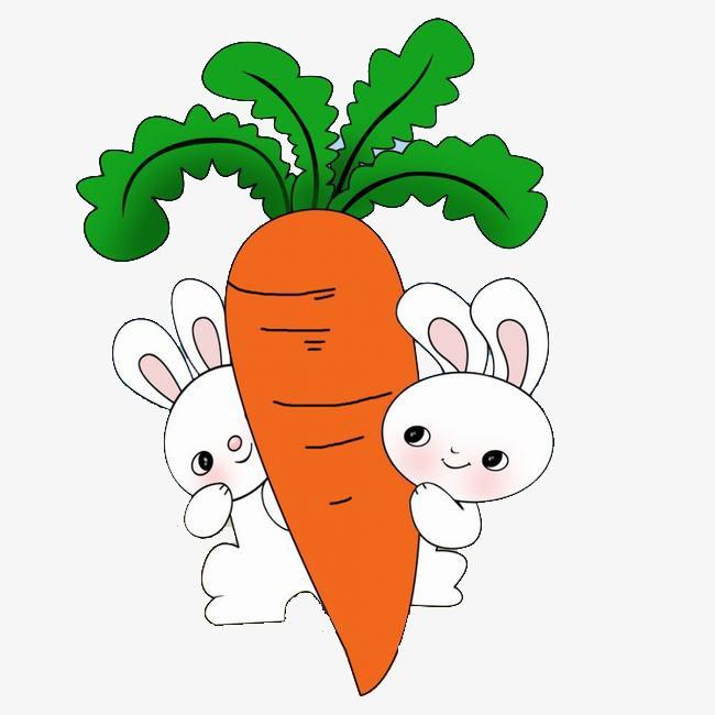 卡通兔子和萝卜素材图片免费下载 高清装饰图案png 千库网 图片编号图片