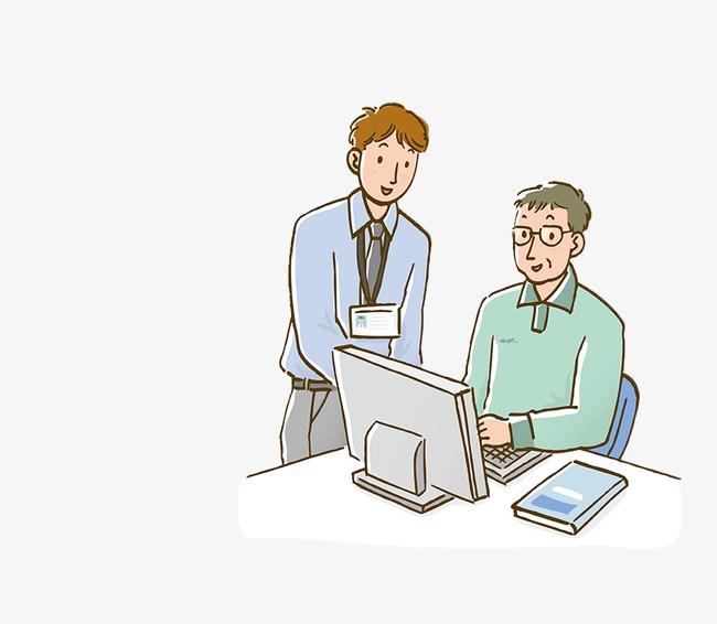 卡通人物 手绘上班族 职员             此素材是90设计网官方设计
