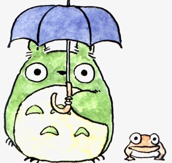 雨伞 卡通 可爱 手绘 萌 q版 动物