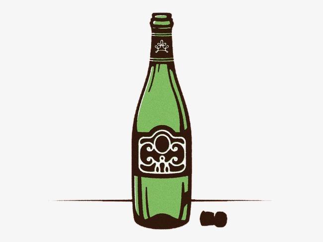 啤酒瓶创意丙烯颜料手工制作