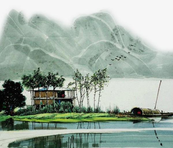 图片 装饰元素 > 【png】 中国风 古代风景 装饰图案