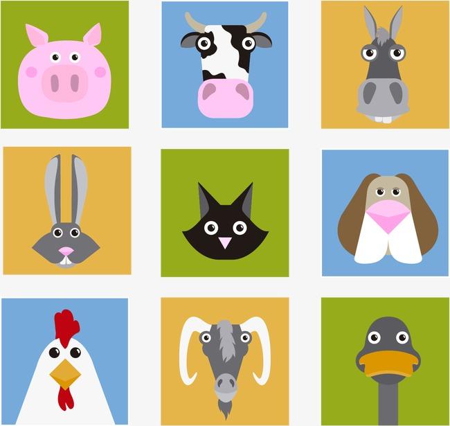 手绘卡通动物图案