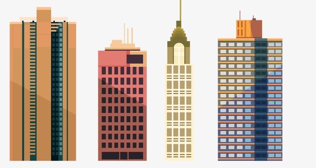 卡通大楼图片