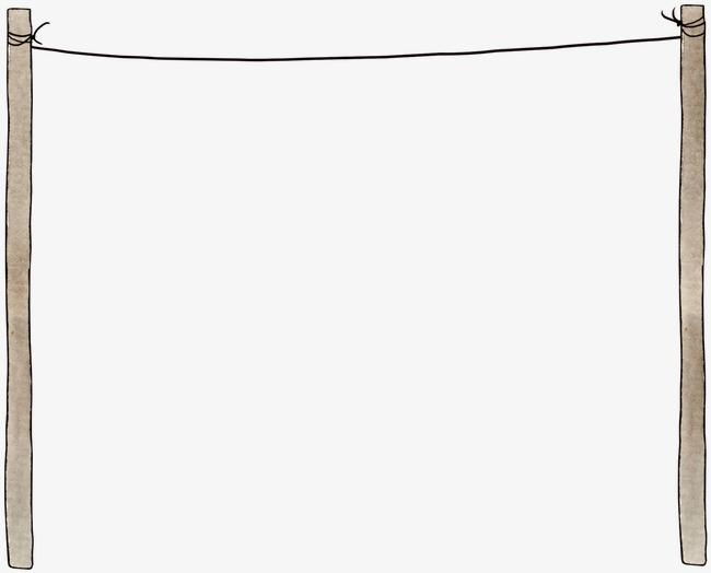 手绘晾衣杆素材图片免费下载 高清卡通手绘png 千库网 图片编号3339958