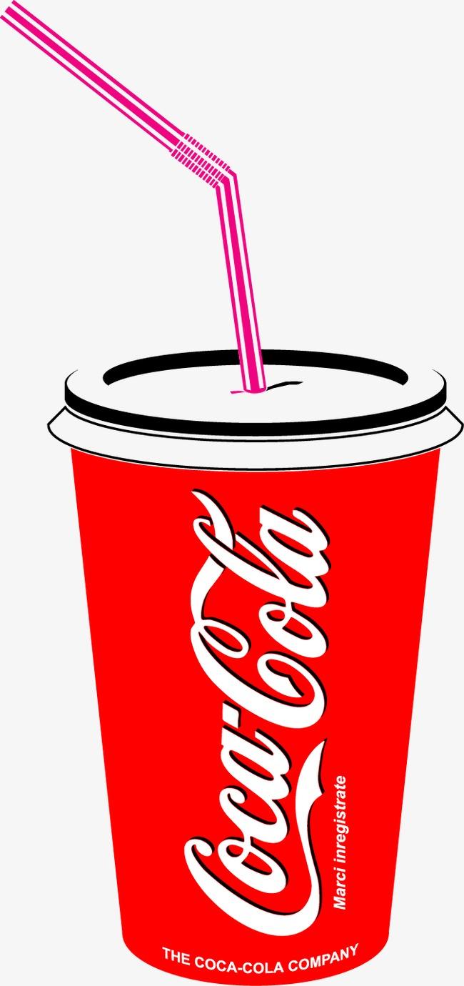 矢量杯装卡通可口可乐饮料图片