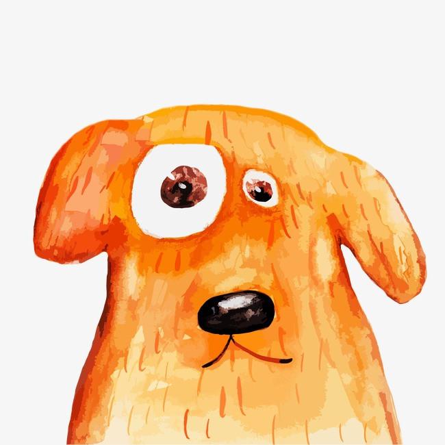 卡通水彩小动物