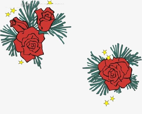 水彩手绘鲜花素材