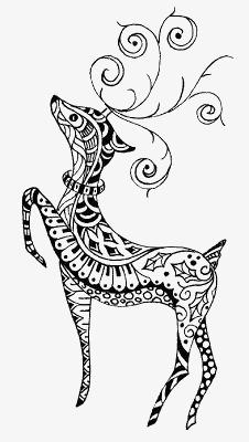 麋鹿可爱图片手绘