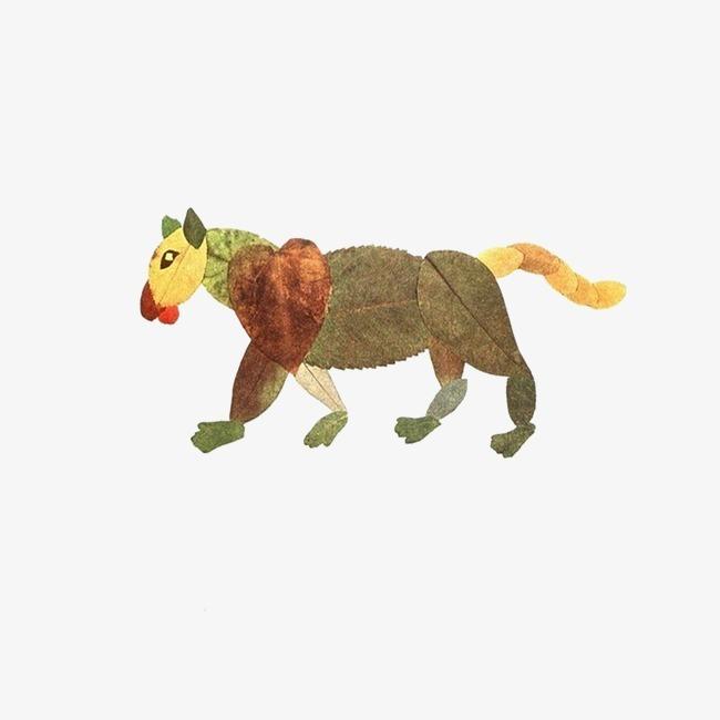 动物 老虎  树叶  创意  拼图             此素材是90设计网官方