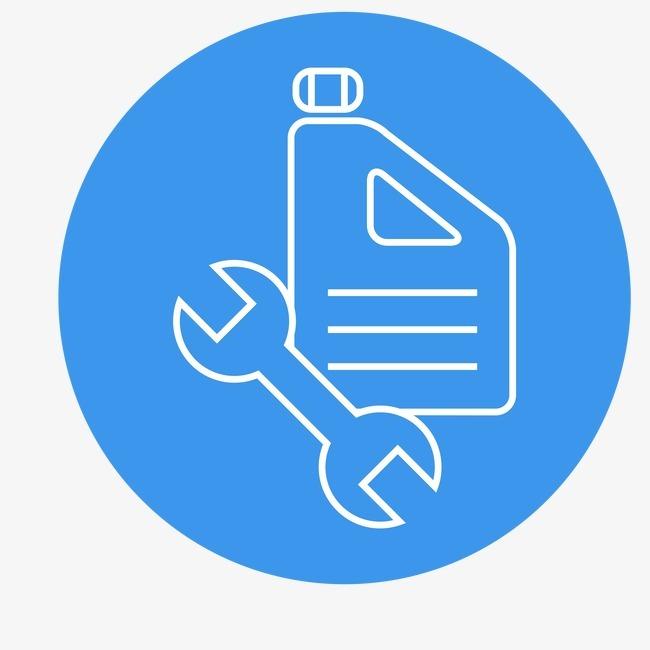 扳手 油壶 图标 加油 工具 汽车配件             此素材是90设计网