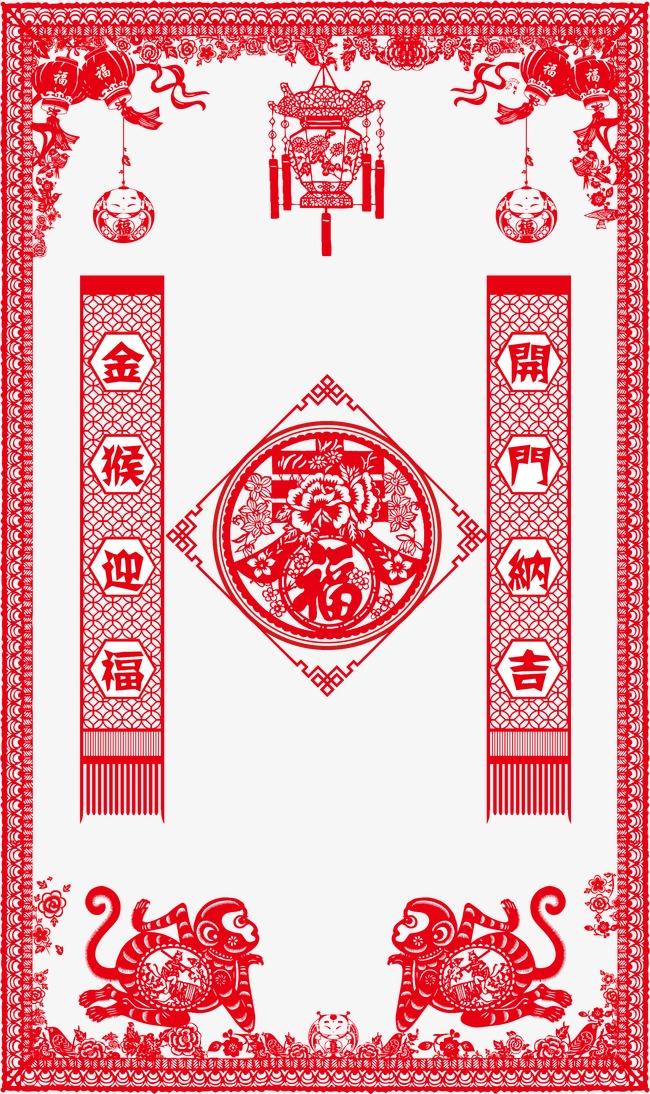 新春贴画素材图片免费下载 高清节日素材psd 千库网 图片编号3385746