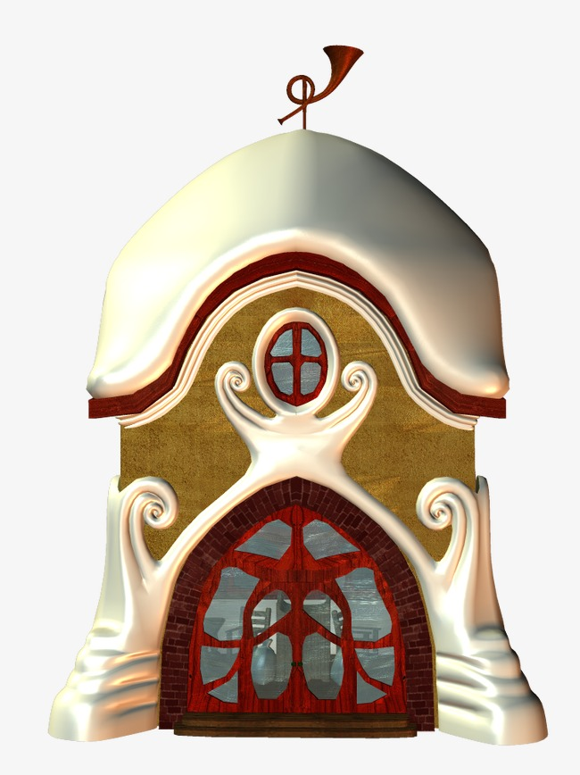 可爱的小房子【高清png素材】-90设计