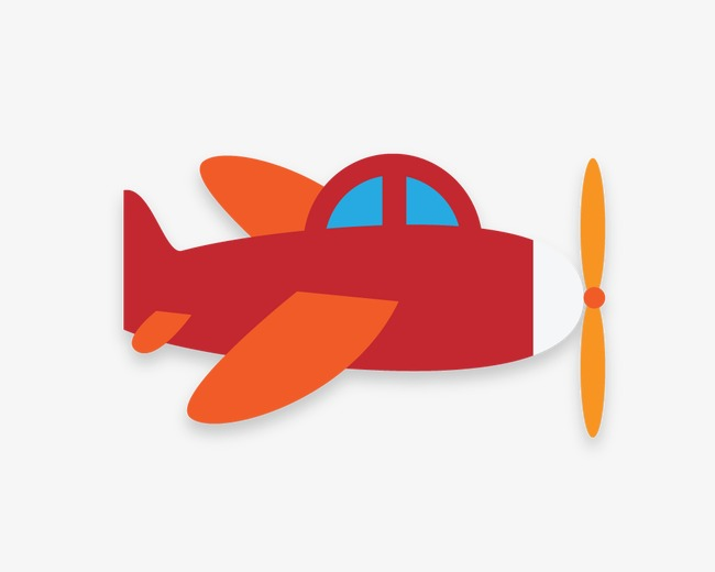 飞机 卡通飞机 红色