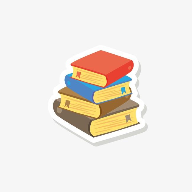 开学季手绘书本