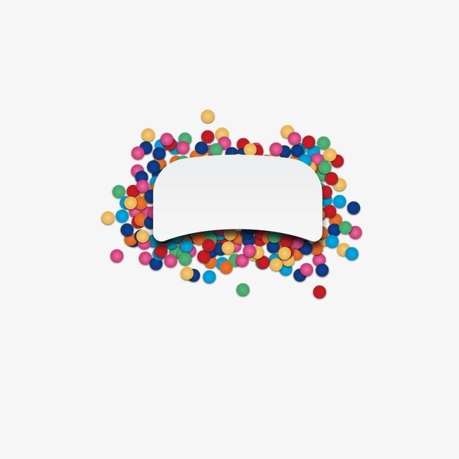 彩色泡泡边框
