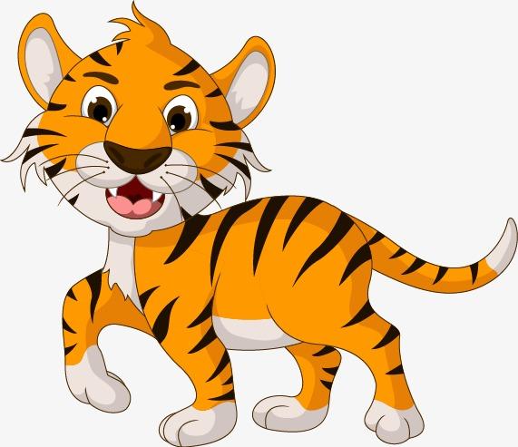 小老虎 小动物 可爱 装饰             此素材是90设计网官方设计