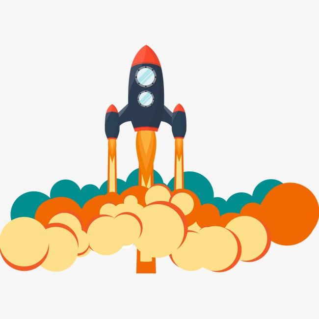 创意火箭png素材-90设计
