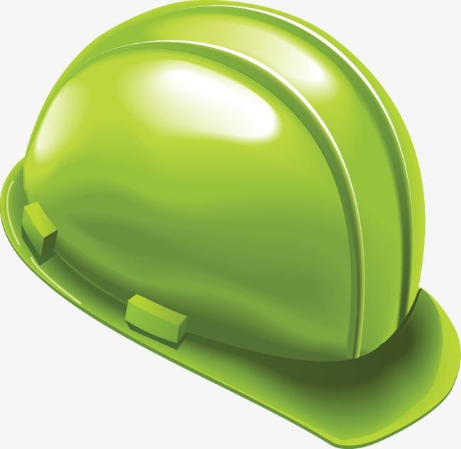 手绘绿色安全帽图案