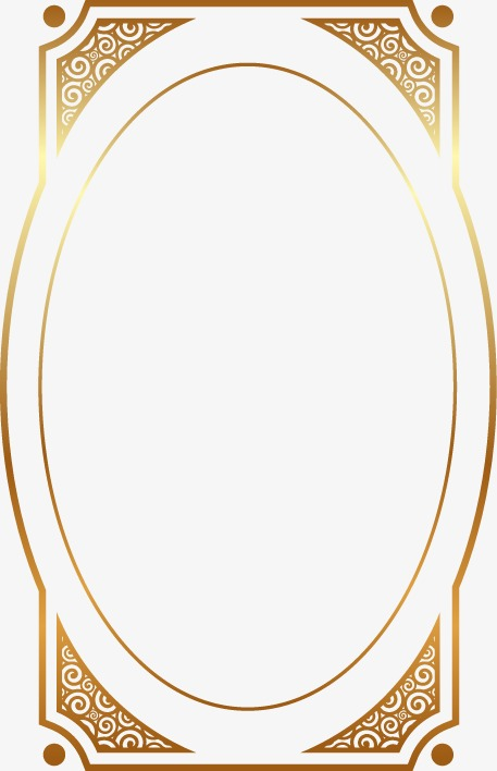 手绘金边椭圆花纹图案