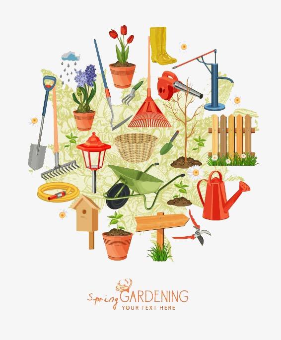 图片 > 【png】 卡通园艺海报图片  分类:手绘动漫 类目:其他 格式