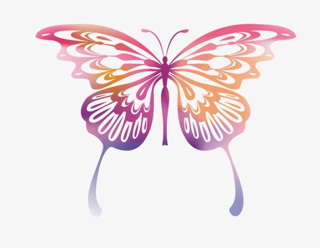 笔刷 画画 手绘 彩色蝴蝶             此素材是90设计网官方设计
