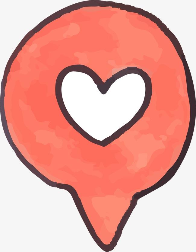 爱心手绘图标