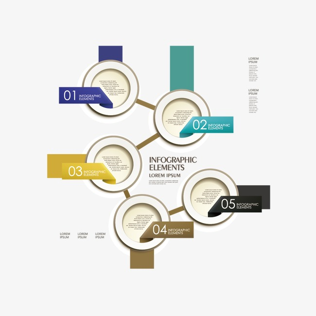 ppt创意目录png素材-90设计图片