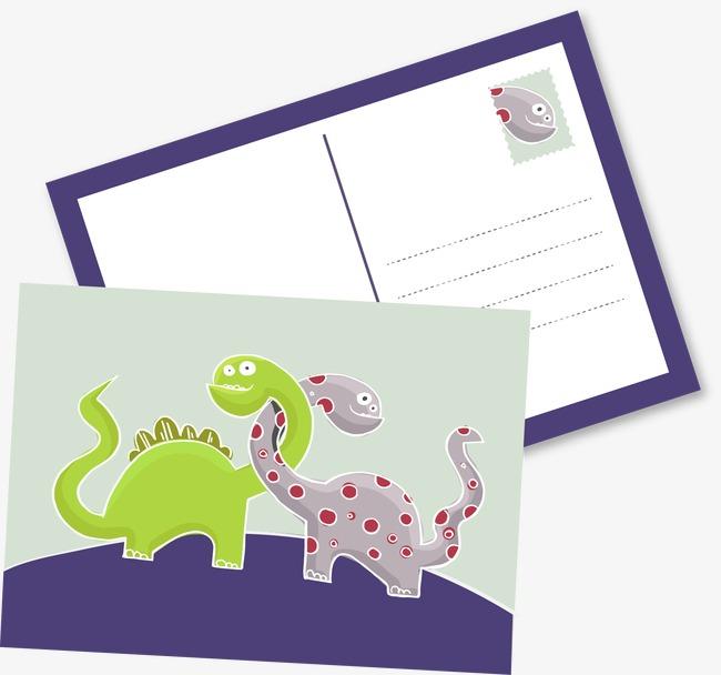 图片 > 【png】 卡通恐龙明信片素材  分类:手绘动漫 类目:其他 格式