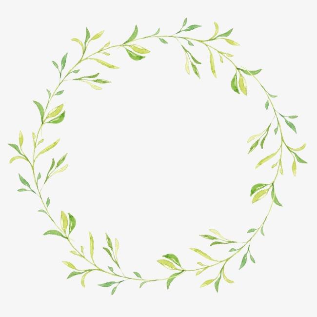 手绘叶子圆环