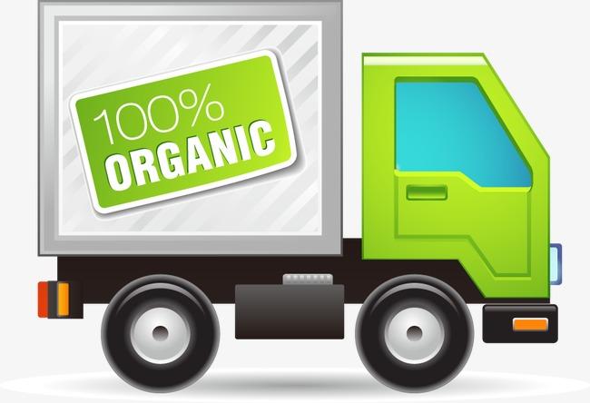 手绘绿色货车图案